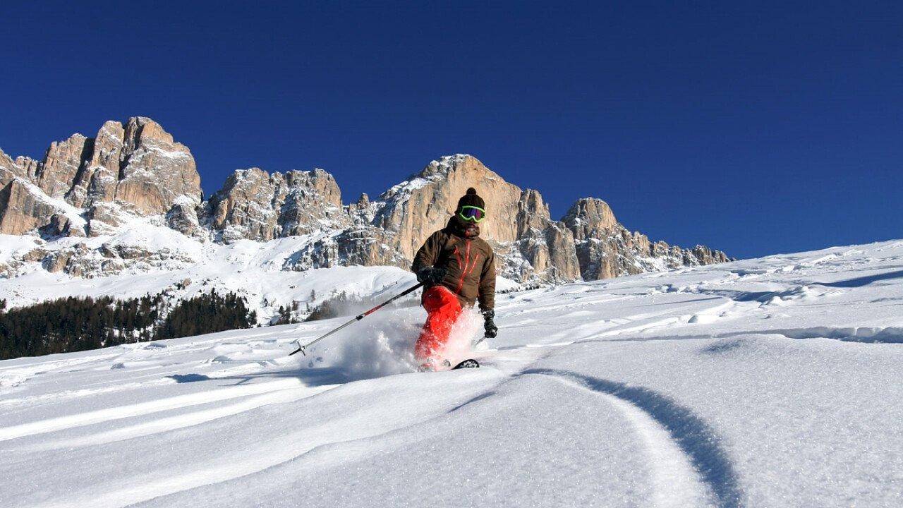Sportler Telemark Festival a Carezza in Val d'Ega in Alto Adige - Peter Seebacher