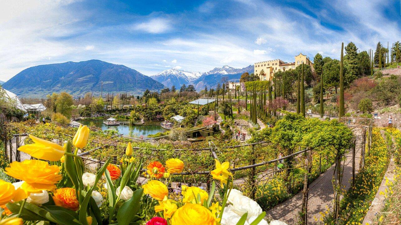 Luoghi da visitare: Giardini di Sissi a Merano, fioritura - dolomiti.it