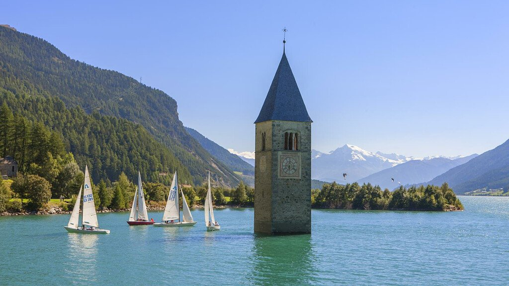 Sailing on Lake Resia - cover