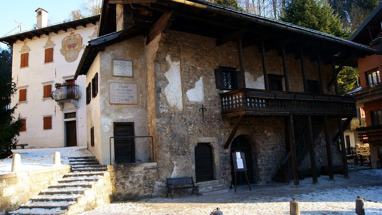 Tiziano's house in Pieve di Cadore