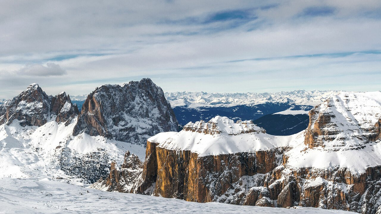 Sella Group in winter