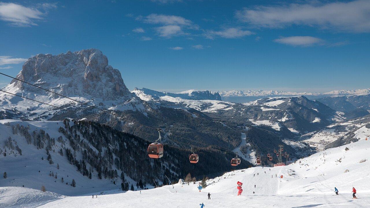 Ski area Val Gardena