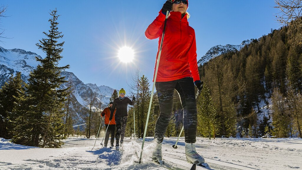 Cross-country skiing trails in the Dolomites - cover