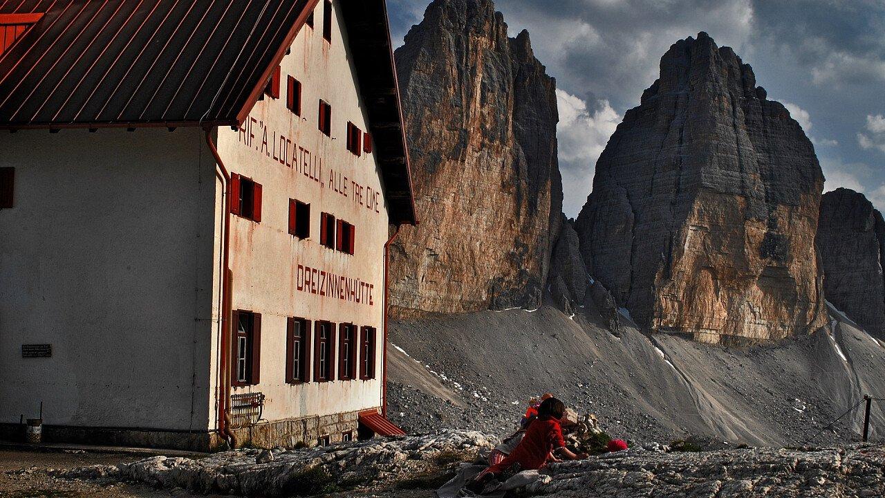Locatelli hut in Tre Cime di Lavaredo
