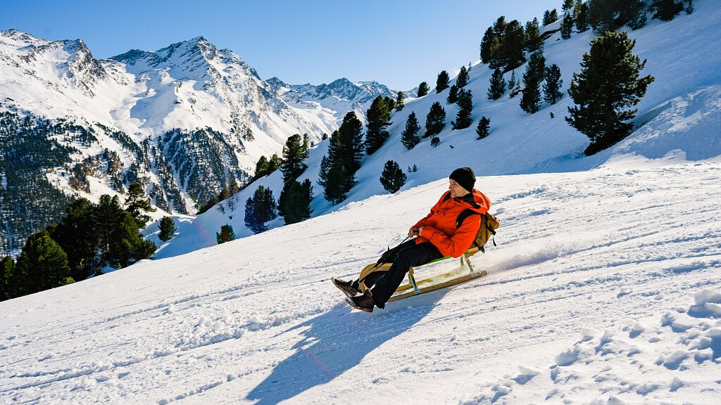Sled slopes in South Tyrol - cover