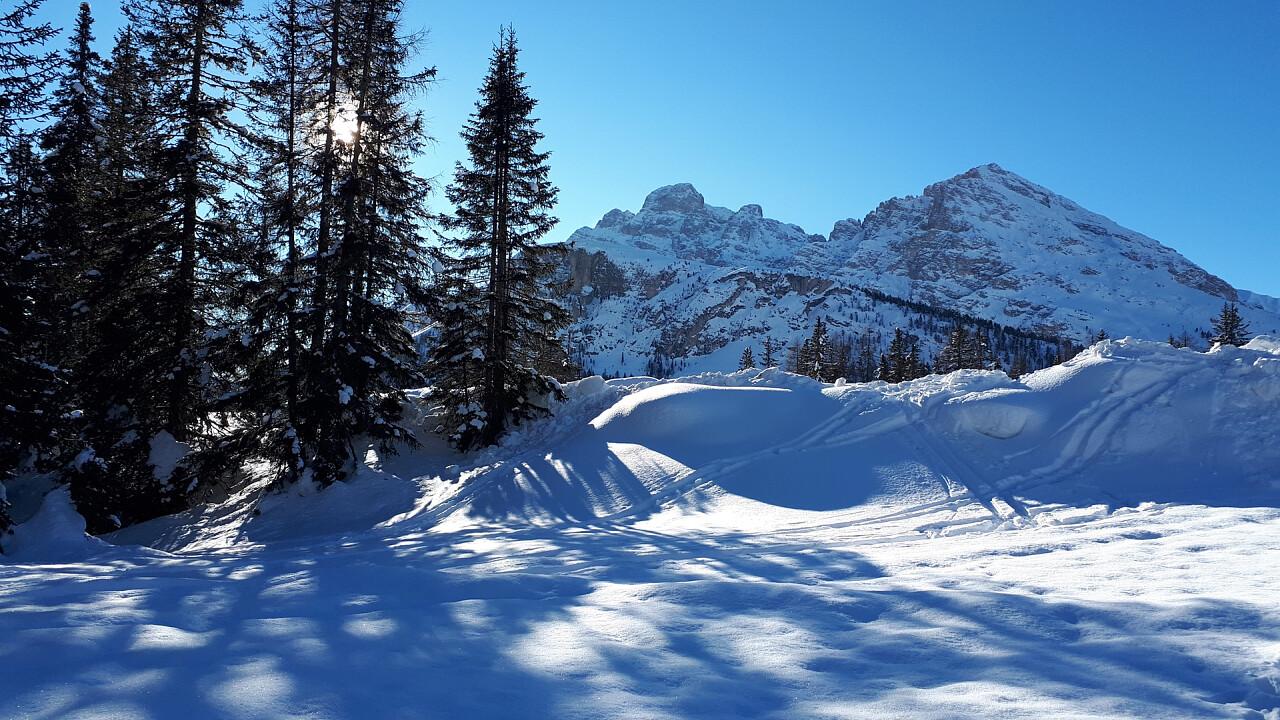 From Misurina to Col de Varda in winter