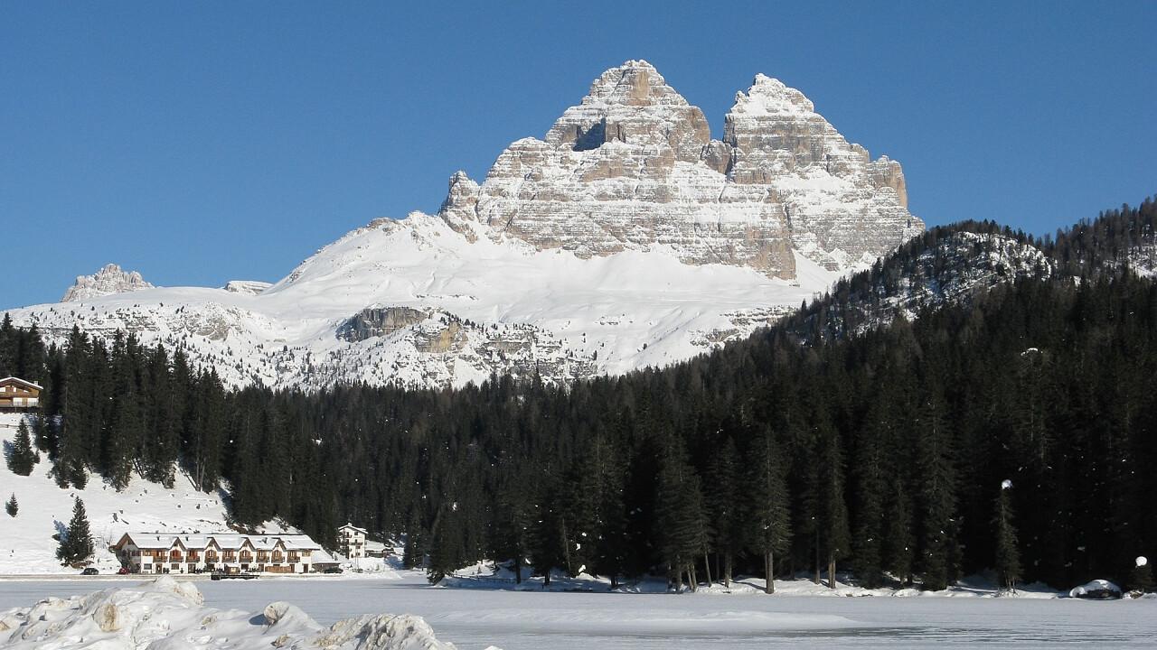 Misurina lake in winter