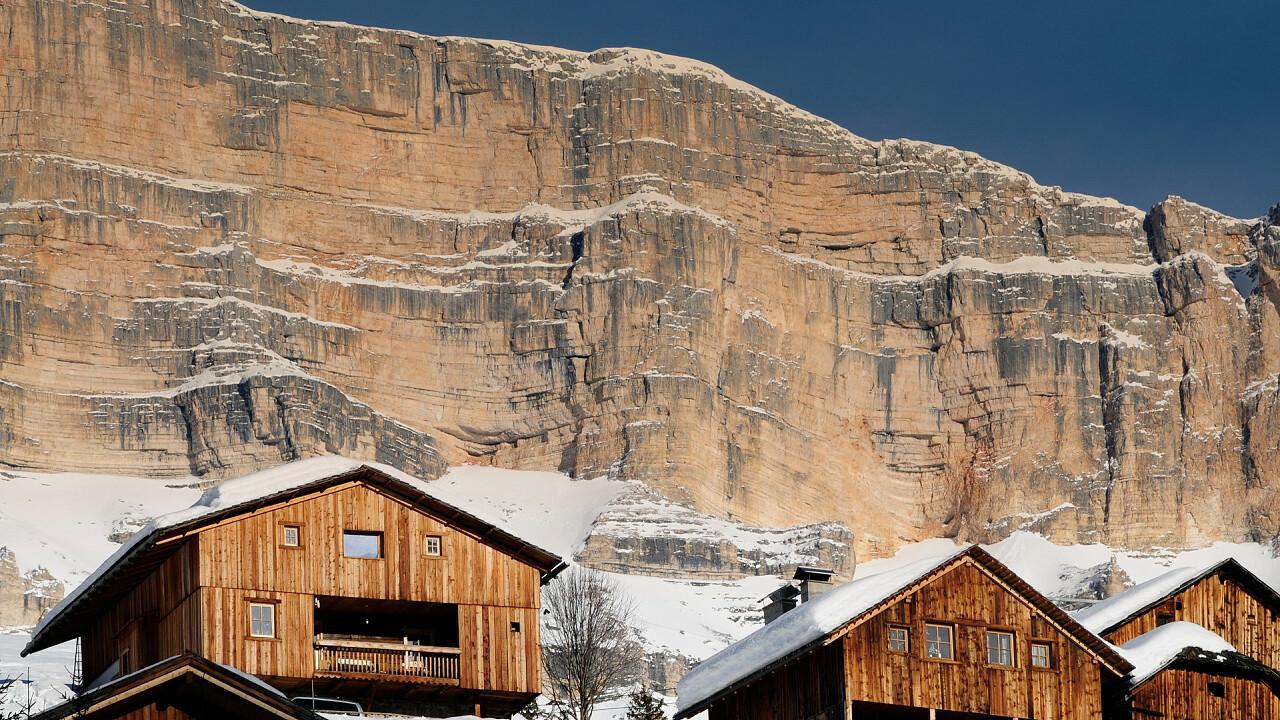 Viles in Winter in Val Badia
