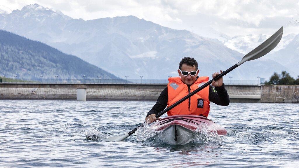kayak across the lake - cover