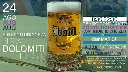 Birra Dolomiti Fest al Rifugio Luigi Gorza - cover