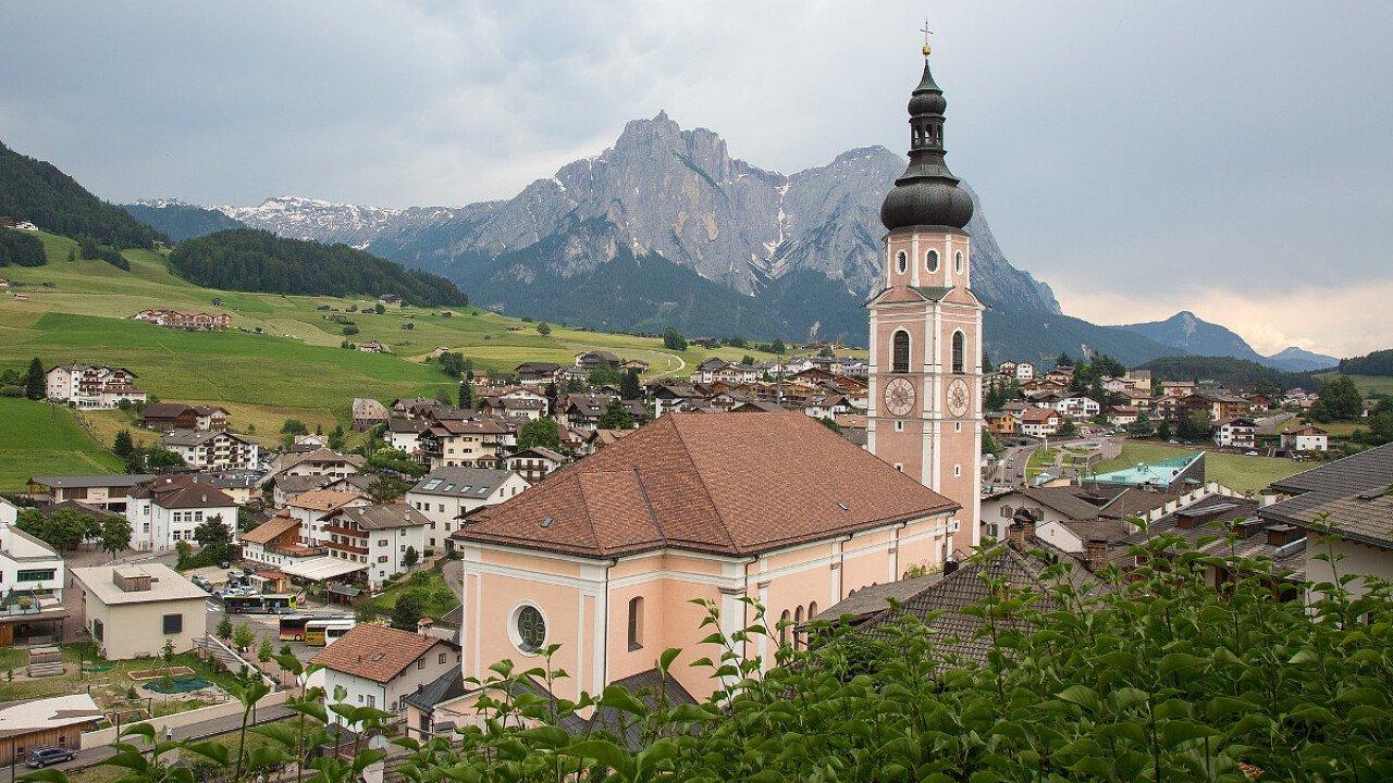 Il centro storico di Castelrotto in Alpe di Siusi