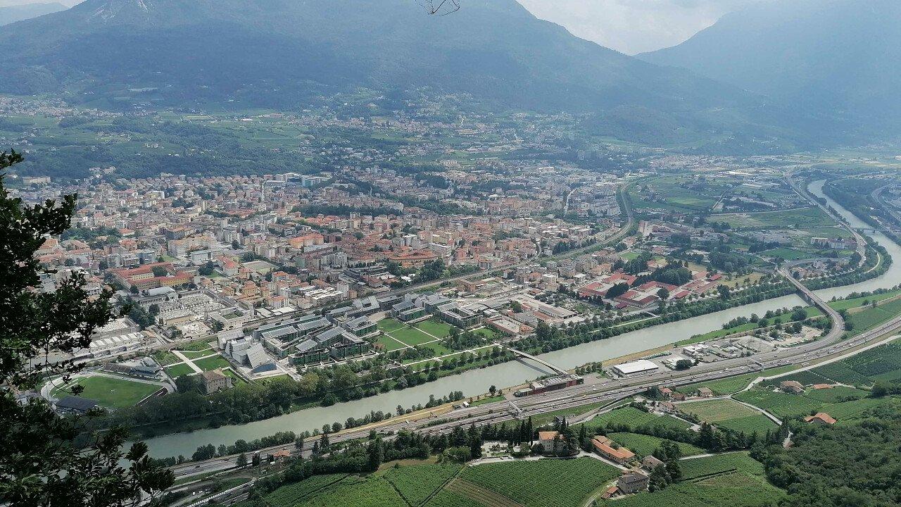 La città di Trento vista dall'alto - Trentino