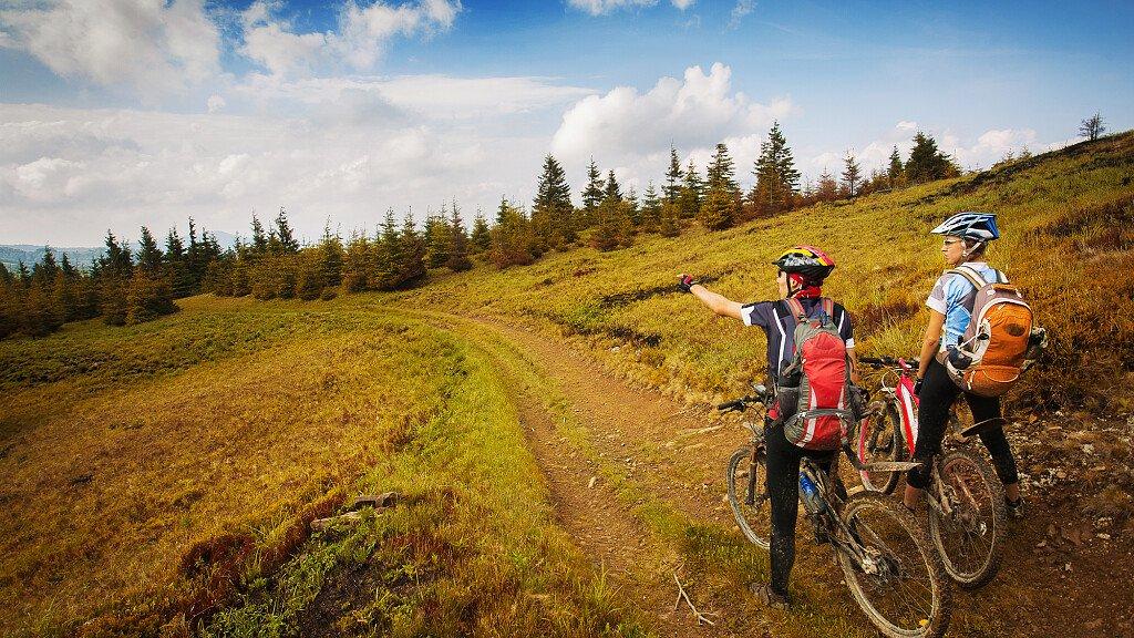 Itinerari Mountain Bike nell'Altopiano di Pinè - Valle di Cembra  - cover