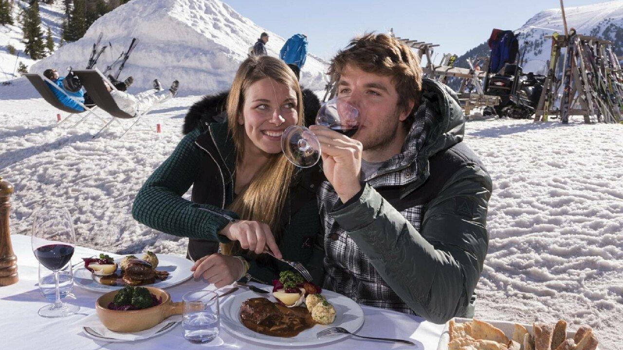 Pranzo in rifugio nella ski area di Obereggen - Val d'Ega