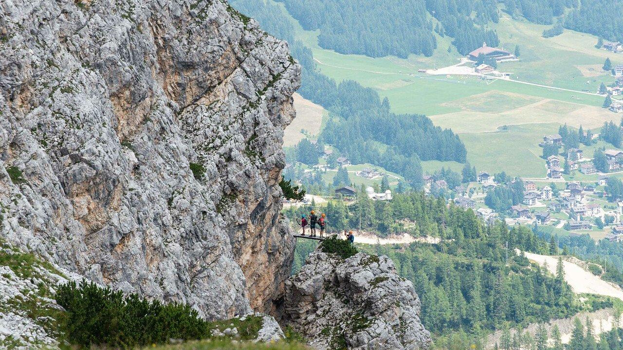 Ferrata Ra Pegna sullo Schuss delle Tofane sopra Cortina d'Ampezzo