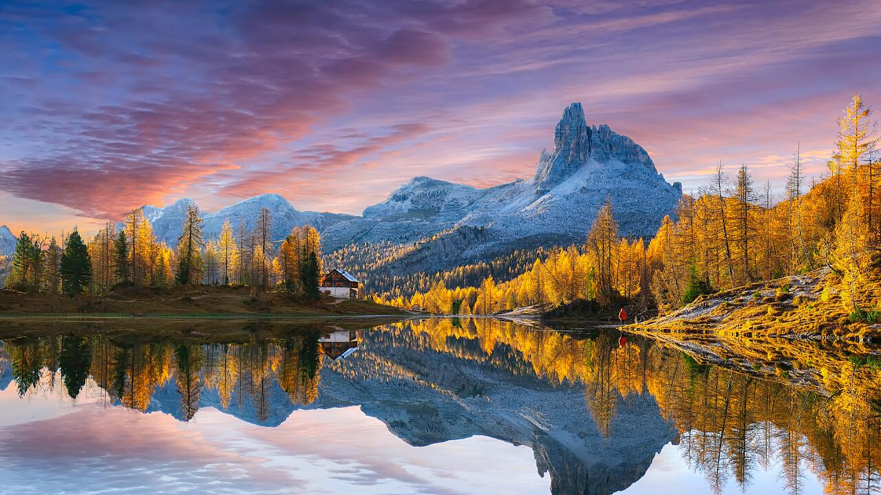 lago_federa_autunno_tramonto_cortina_d_ampezzo_shutterstock