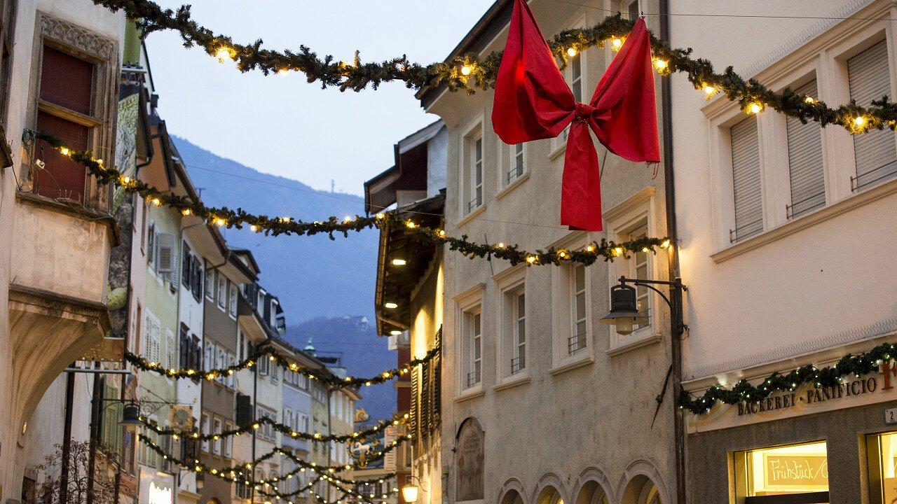 Bolzano durante il Natale