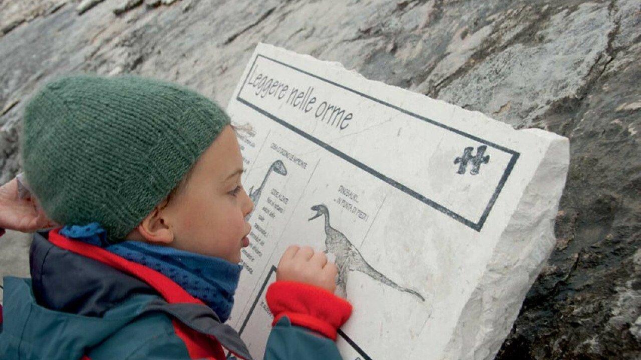 Bambini al Museo Orme dei dinosauri Rovereto