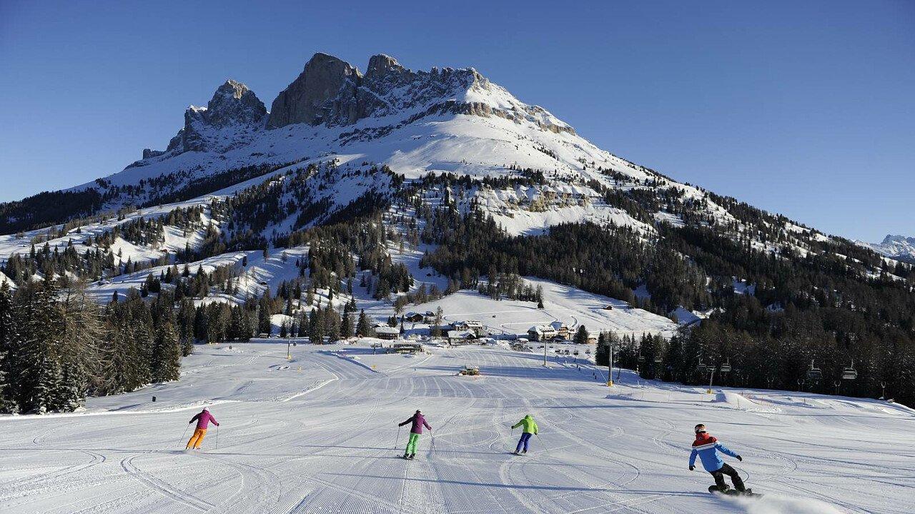 Sciare nella ski area Latemar – Val di Fiemme – Obereggen