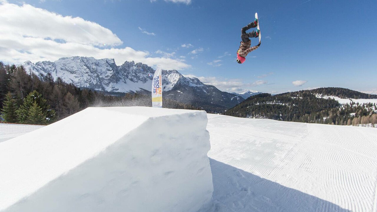 Snow Park nella ski area Latemar – Val di Fiemme – Obereggen