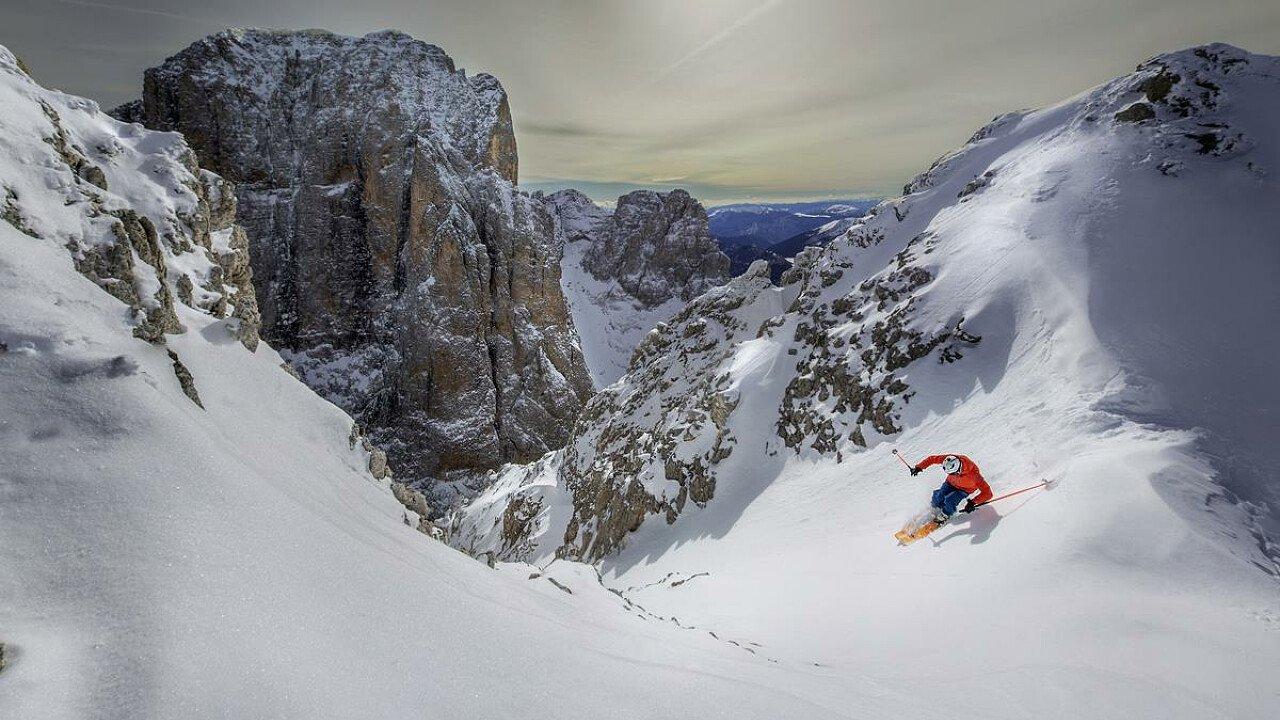 Freeride tra le Dolomiti UNESCO innevate di San Martino di Castrozza