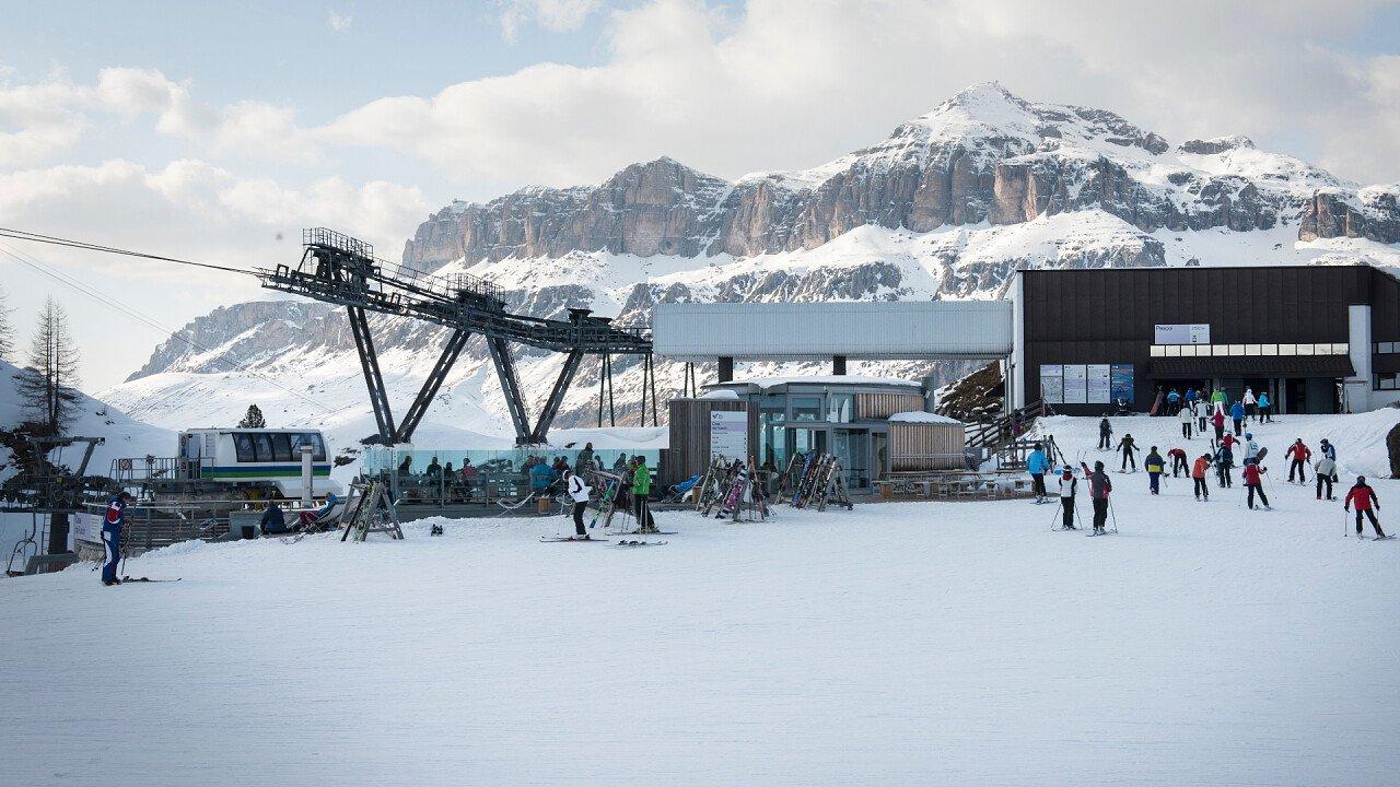 Ski area Arabba Marmolada