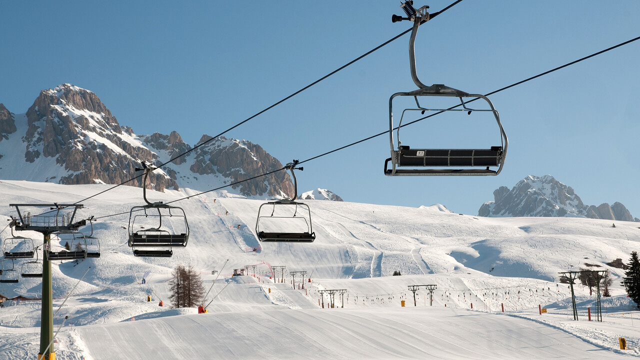 Lifts at the San Pellegrino Pass