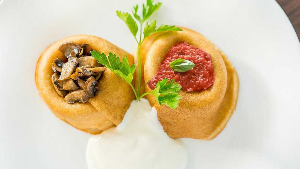 Recipe of polenta Baskets with tomato sauce - cover
