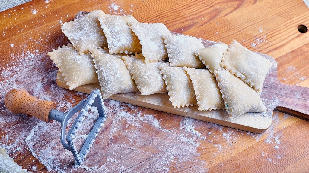 Recipe of Jerusalem artichoke's ravioli - cover