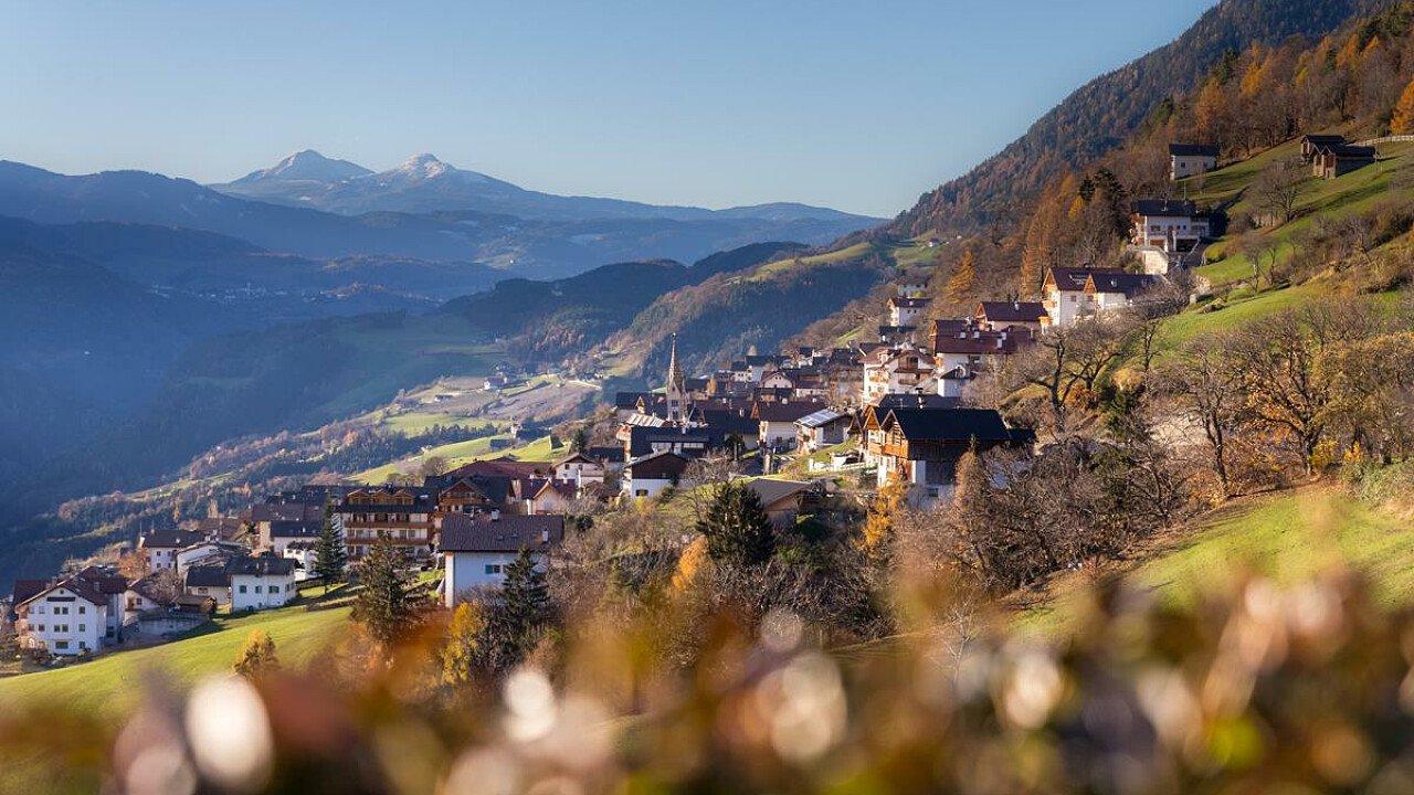 Il paese di Barbiano in Valle Isarco - Alto Adige