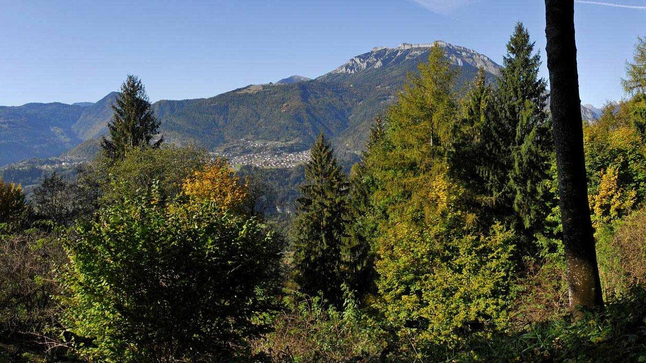 Panorama sulla vallata del Feltrino, nel Bellunese