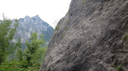 La falesia di arrampicata sportiva del Mas di Sedico