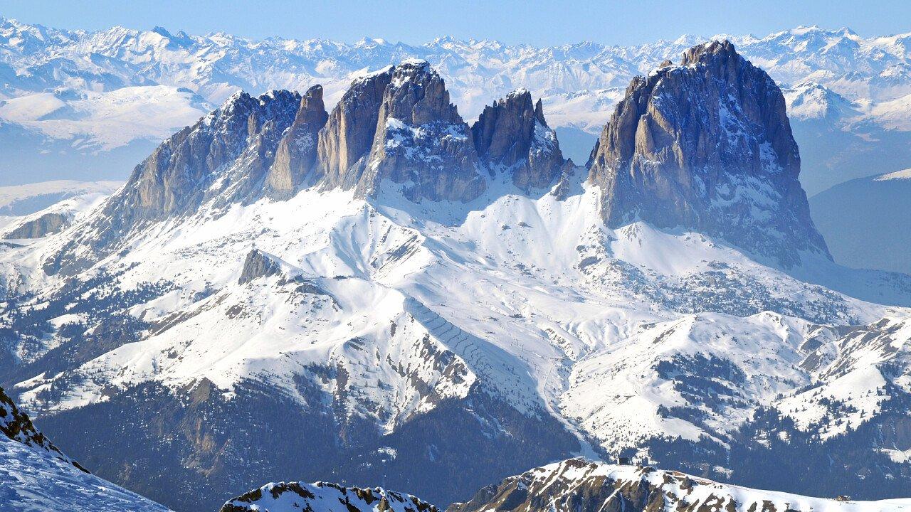 winter landscape alpe di siusi
