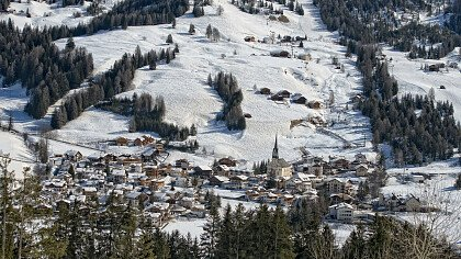 village in badia in winter