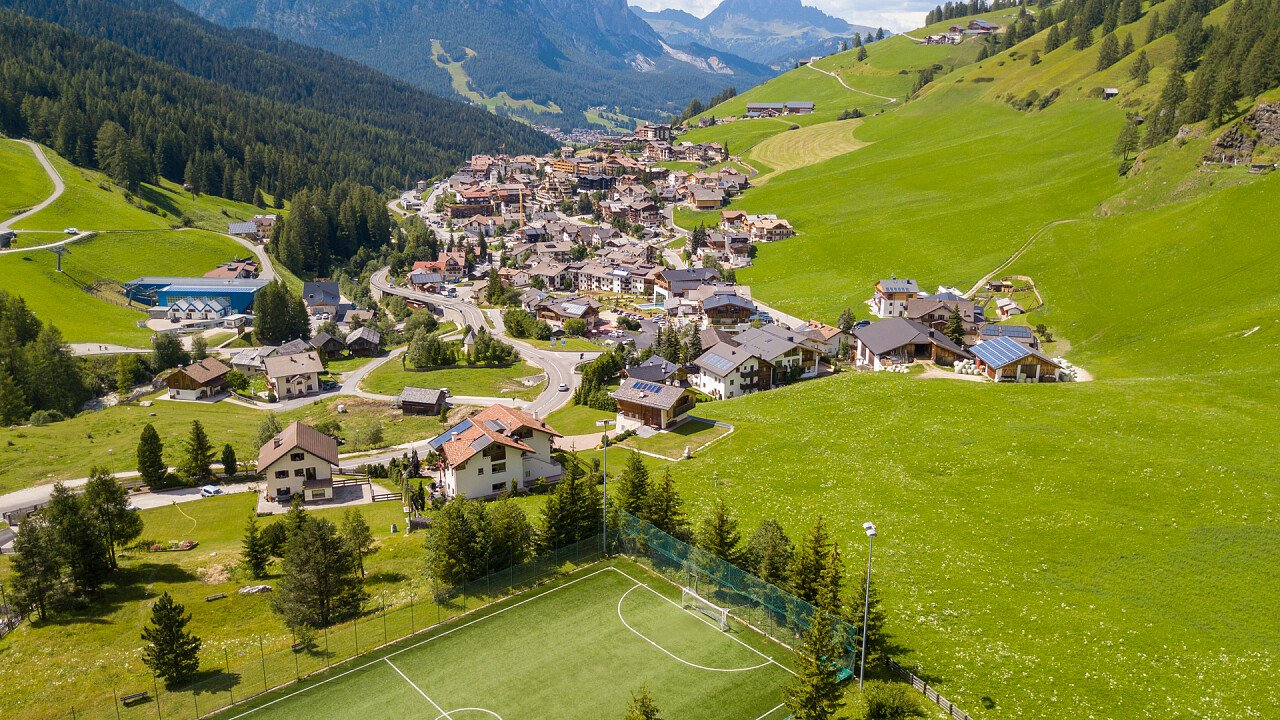 view from above of San Cassiano