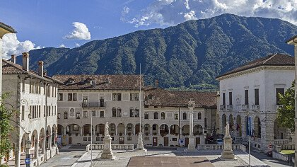 Historic buildings in the centre of Feltre - Depositphotos