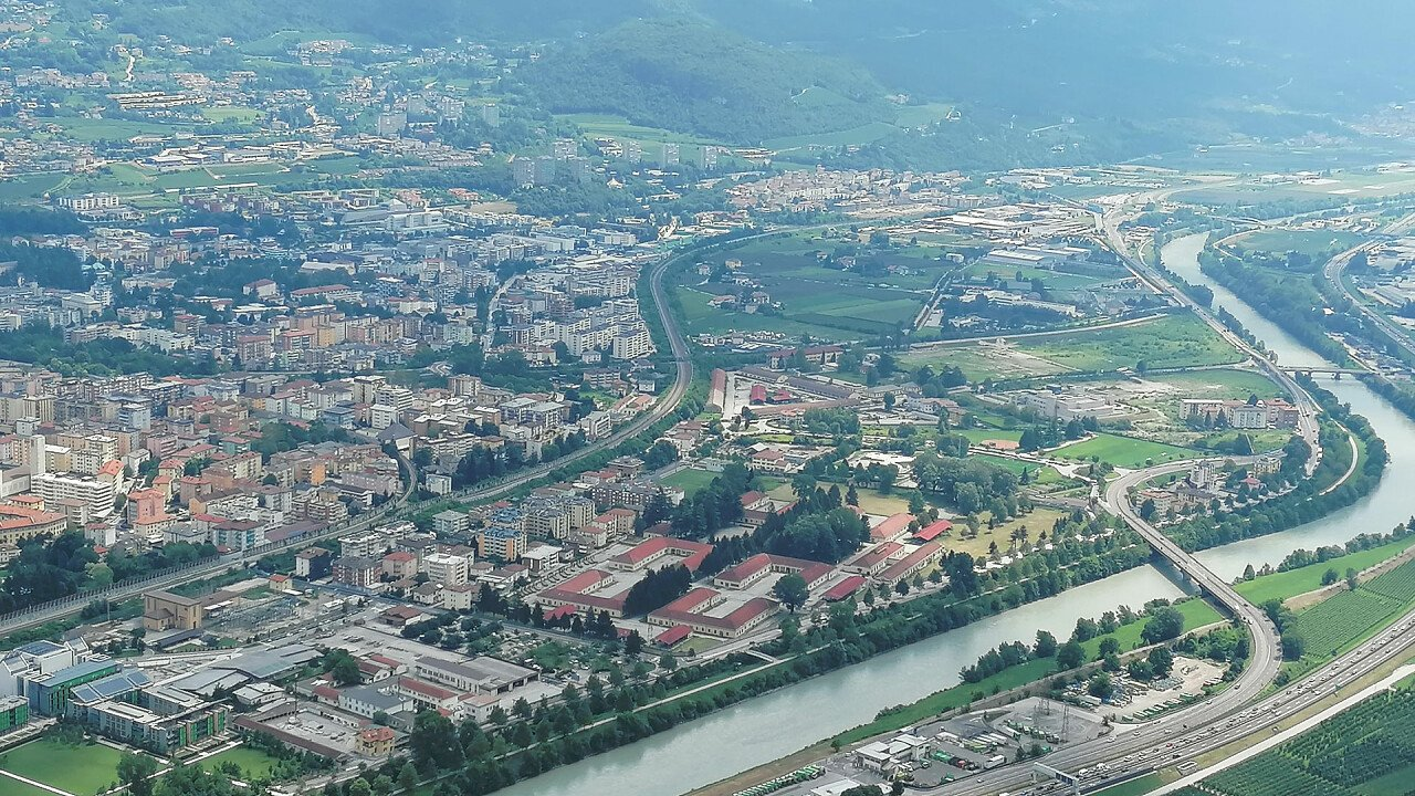 Trento seen from above
