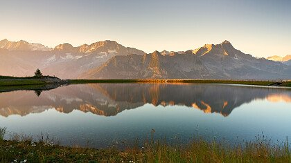Sunset lake Passo Tonale - Vermiglio
