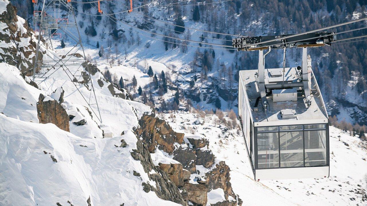 Skigebiet Peio Cogolo Seilbahn