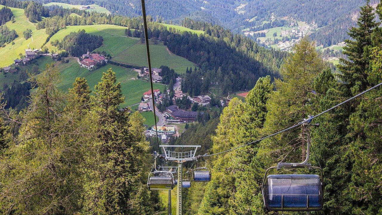 Summer ski lifts in Obereggen Ega