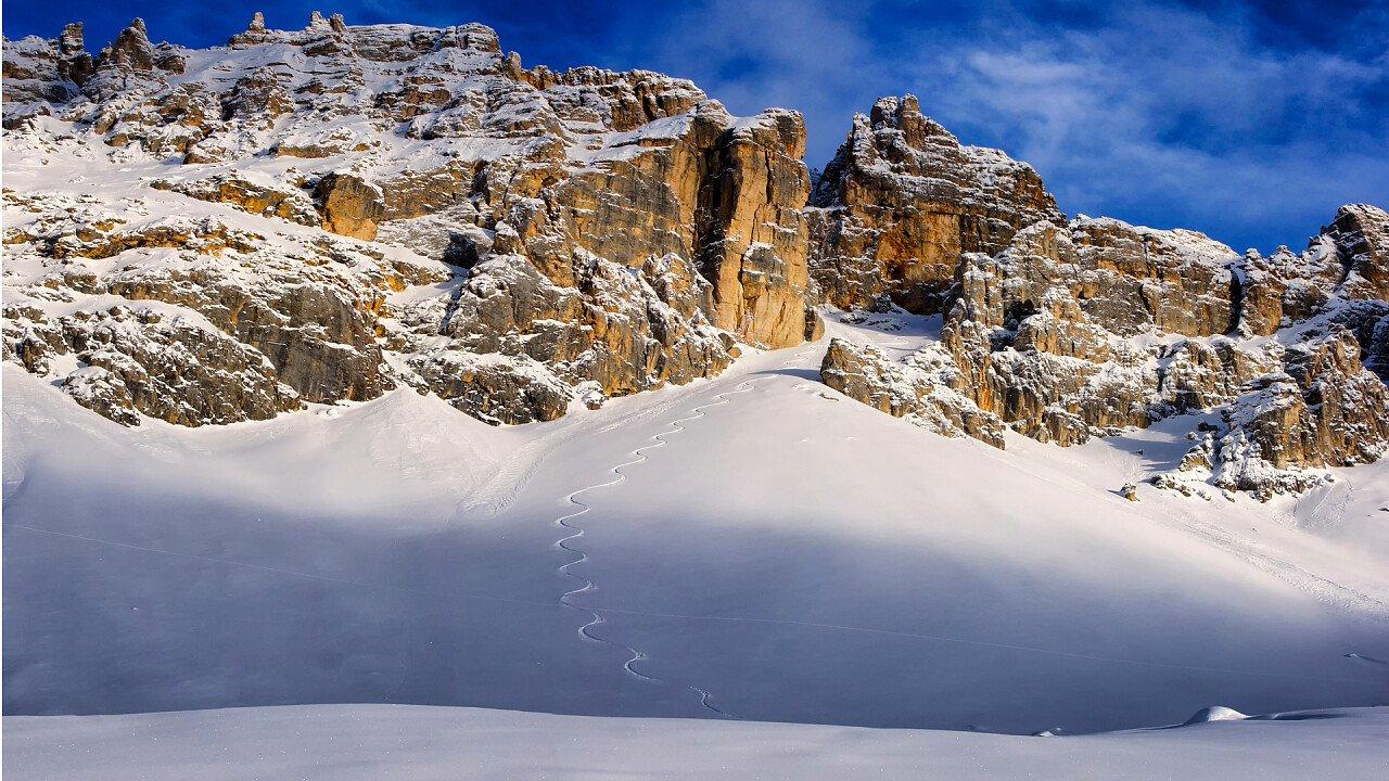 Snow-covered mountains Obereggen