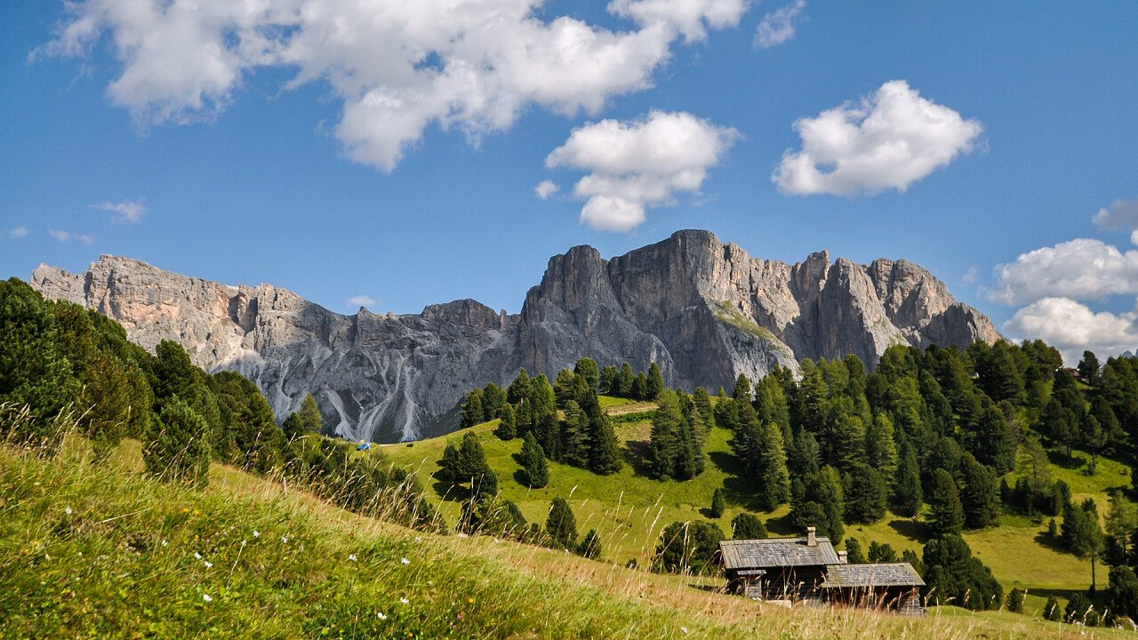 Nature with mountains Selva Val Gardena