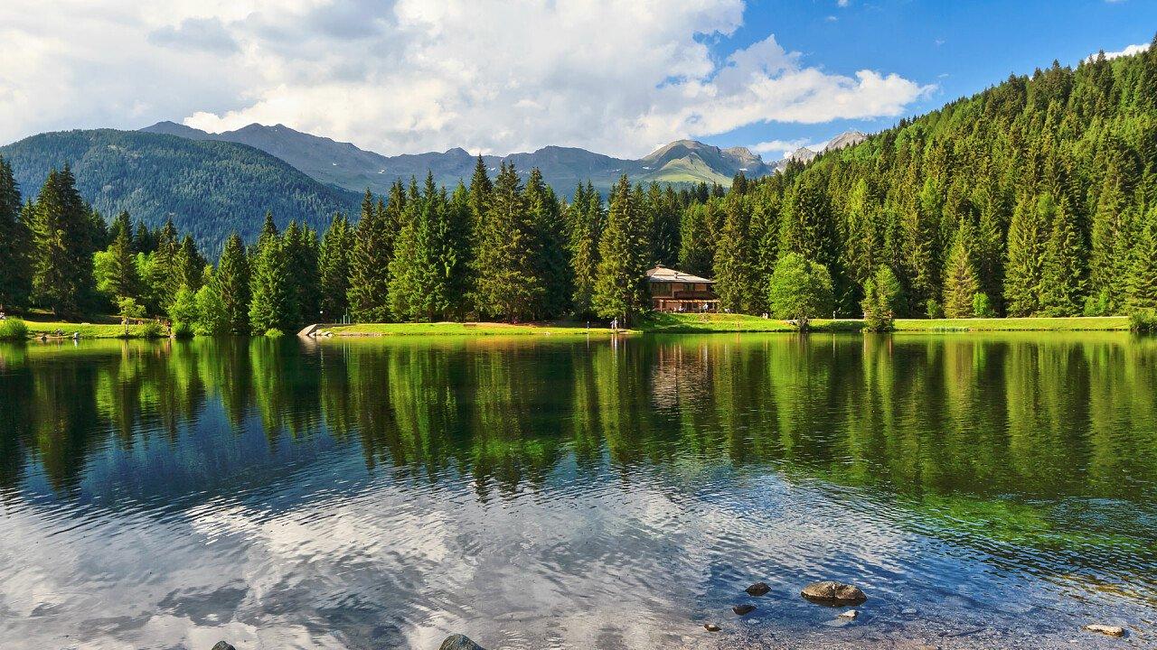 Summer at the Caprioli Lake in Pellizzano