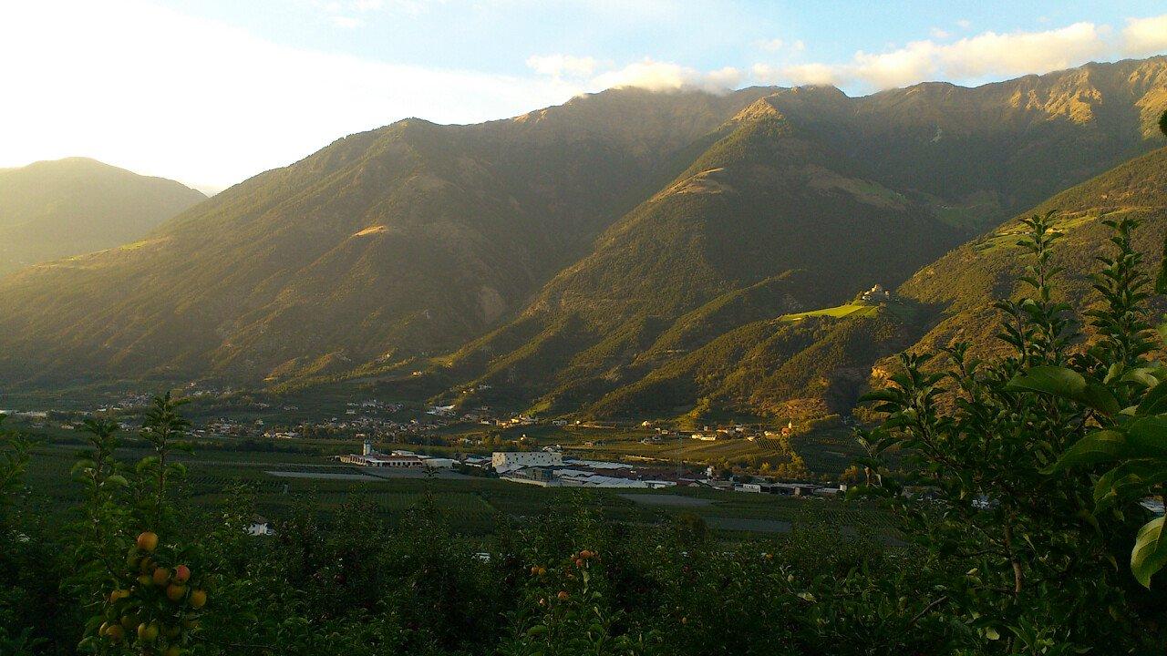 Berge Sonnenuntergang Latsch