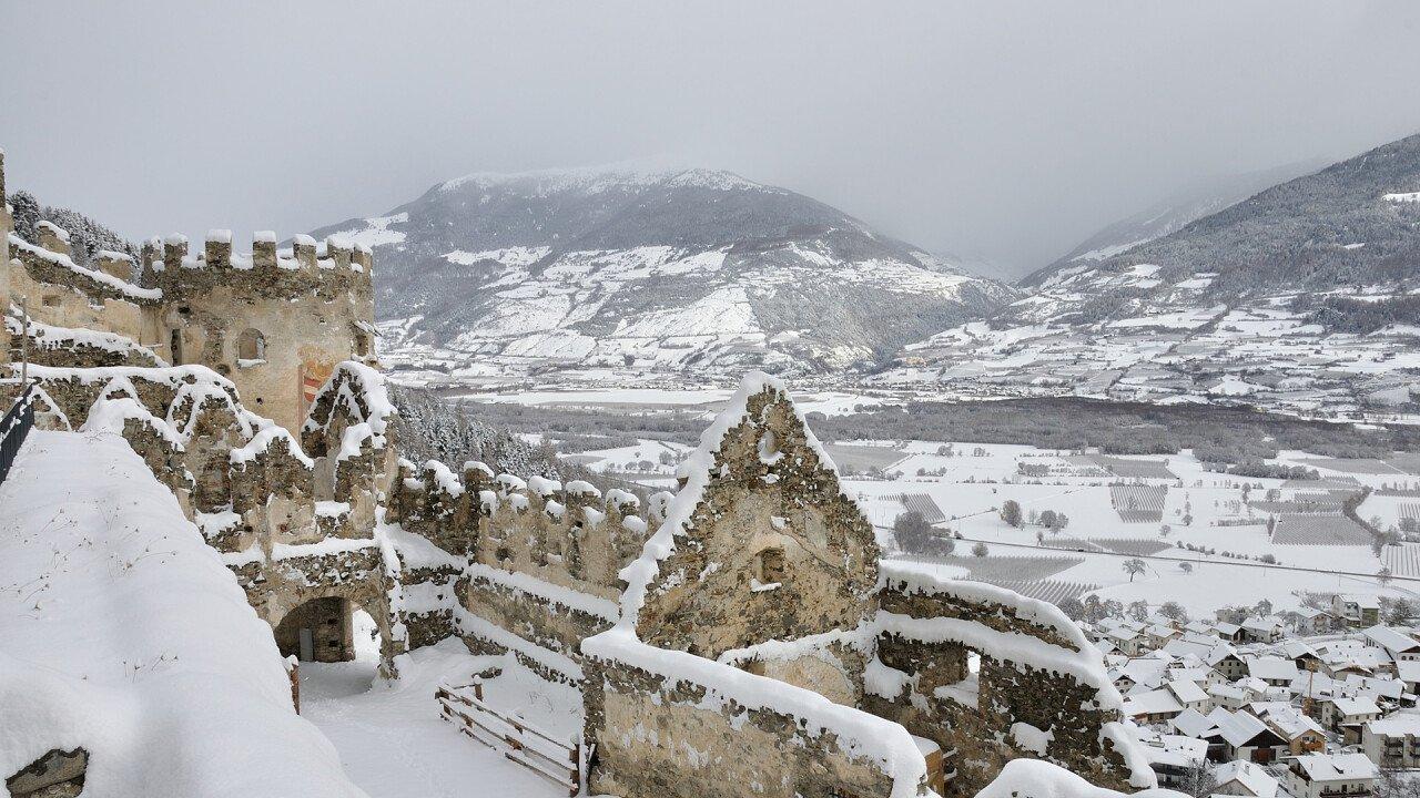 Prato allo Stelvio in winter