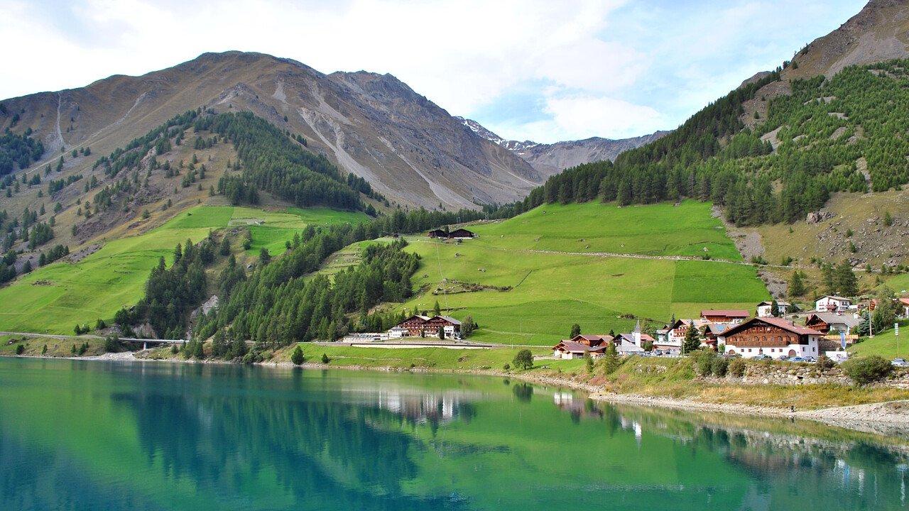 Vernago lake in Val Senales