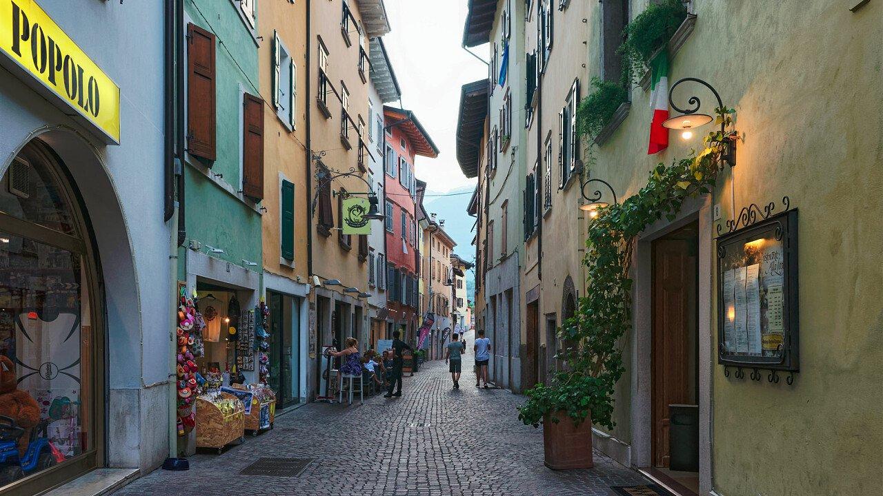 Straßen im Zentrum von Arco