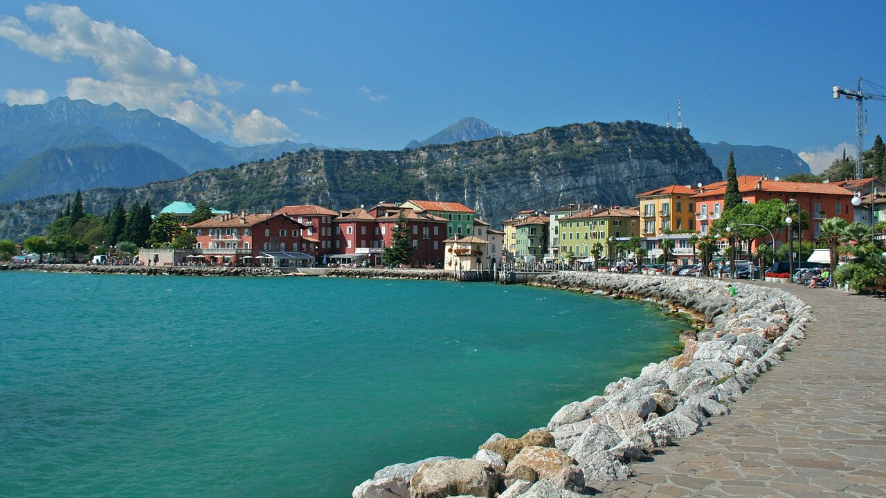 Shores of lake in Nago-Torbole