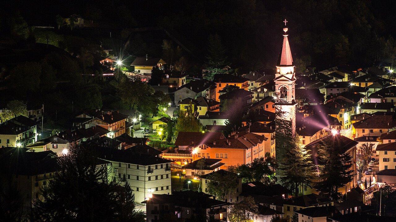 Ledro valley by night