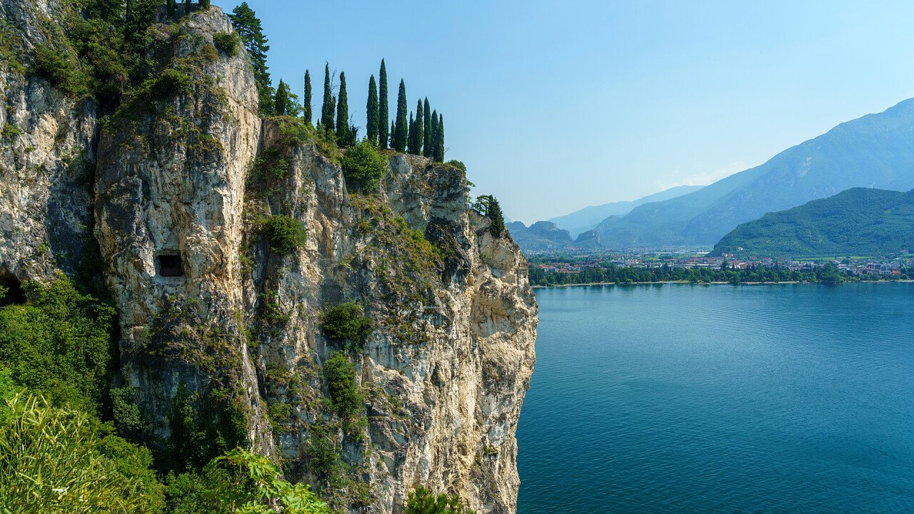 Mountain on Ledro lake